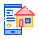 application, estate, search, smartphone icon