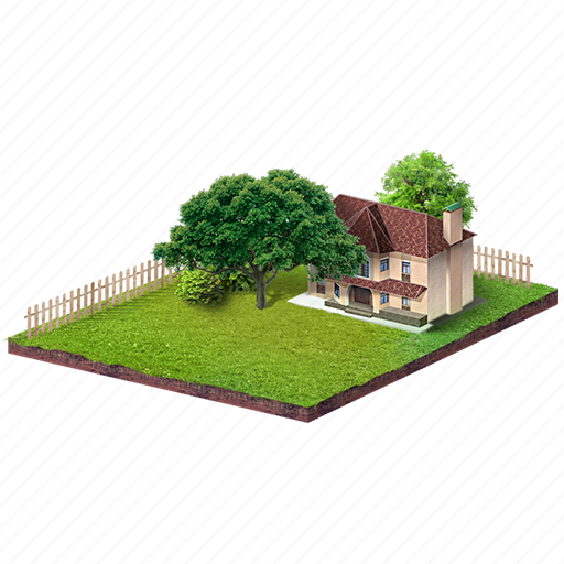 area, building, cottage, country house, nature icon