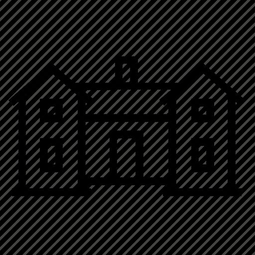 big, building, estate, home, house icon