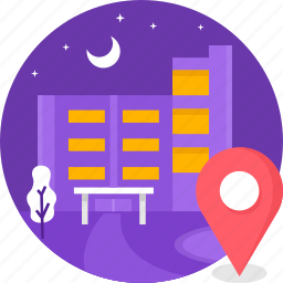 building, hotel, location, luxury hotel, star, vacation icon