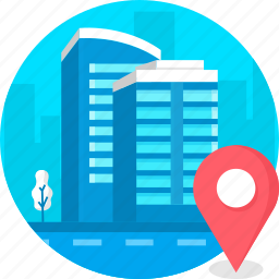 building, business, corporate, location, office, real estate icon