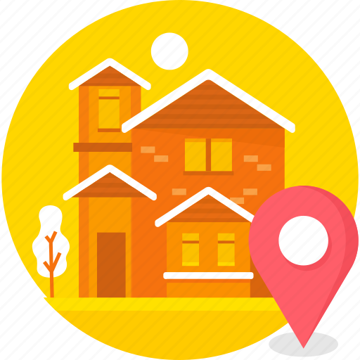 building, home, house, location, real estate icon