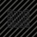fence, gate