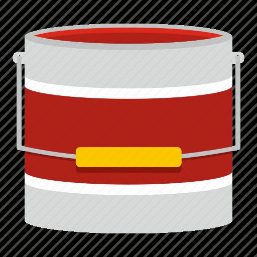 art, bucket, container, decoration, liquid, paint, white icon