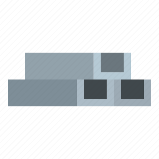 construction, industry, iron, metal, pipe, square, tube icon