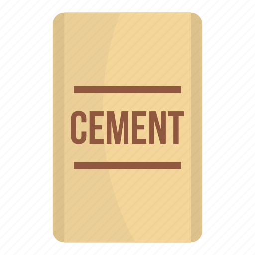 bag, cement, concrete, construction, industry, material, sack icon