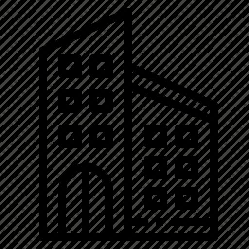building, company, enterprise, estate, real icon