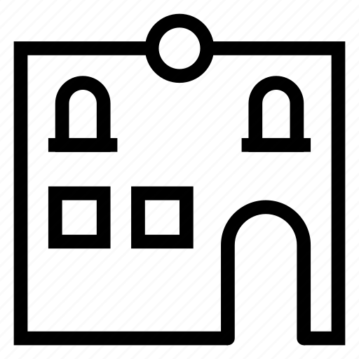 architecture, building, city, commercial, estate, property, textile icon