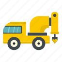 construction, drill, drilling, equipment, ground, truck, work icon