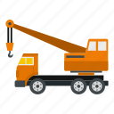 crane, equipment, industry, machinery, site, truck, vehicle icon