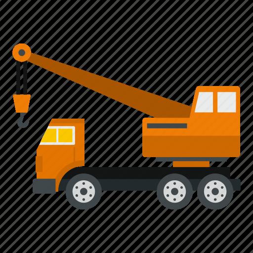 crane, equipment, industry, machinery, site, truck, vehicle icon