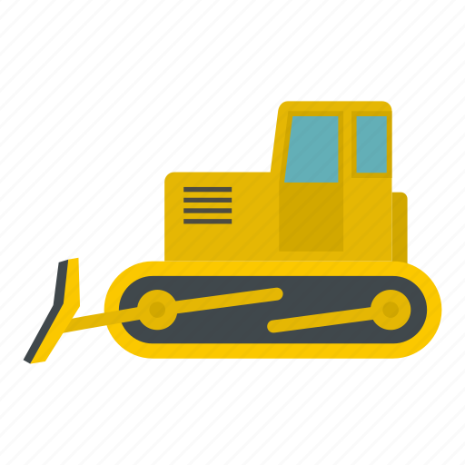 bulldozer, construction, crawler, equipment, scoop, shovel, tractor icon