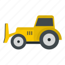 bulldozer, construction, equipment, loader, scoop, shovel, tractor icon