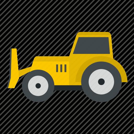 bulldozer, construction, equipment, loader, scoop, shovel, tractor icon