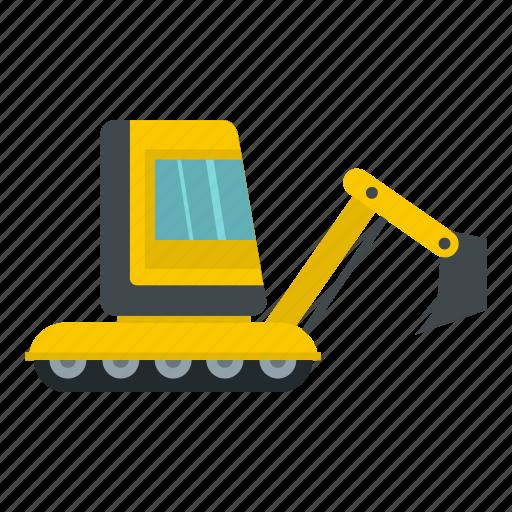 bulldozer, crawler, digger, equipment, excavation, excavator, tractor icon