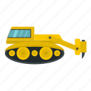 asphalt, construction, equipment, hydraulic, industry, machinery, tractor icon