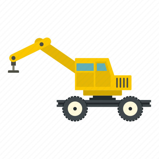 crane, equipment, industry, loader, site, truck, vehicle icon