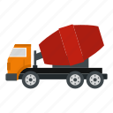 car, concrete, construction, equipment, industry, mixer, vehicle icon