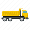 construction, dump, equipment, heavy, industry, truck, vehicle icon