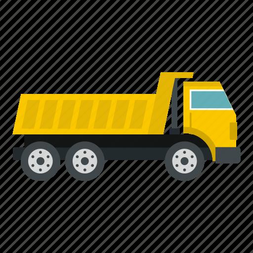construction, dump, equipment, heavy, industry, truck, vehicle icon