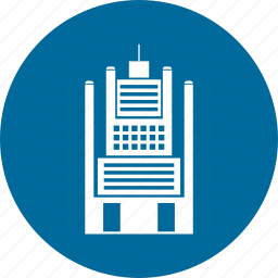 building, city, hotel, office, residential, town icon