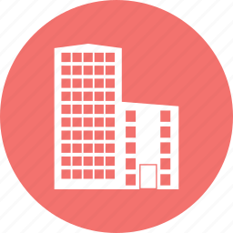 building, city, estate, hotel, office, real icon
