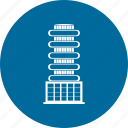 building apartments, buildings, residential, residential building icon