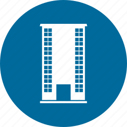 building, city, skyline, town icon