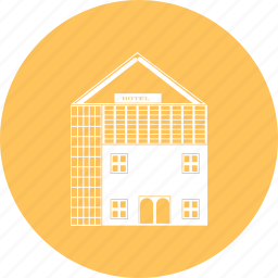 building, estate, home, hotel, house, real icon