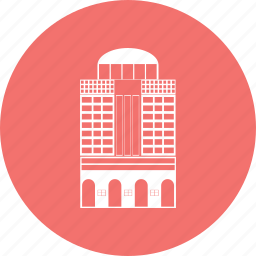 building, estate, property, town icon