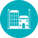 city, landmark, offices, travel icon