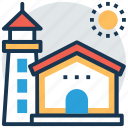beacon, lighthouse, lighthouse tower, sea tower, tower house icon