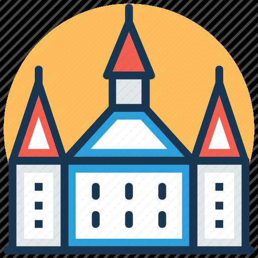 castle, citadel, fortress, historical building, landmark icon