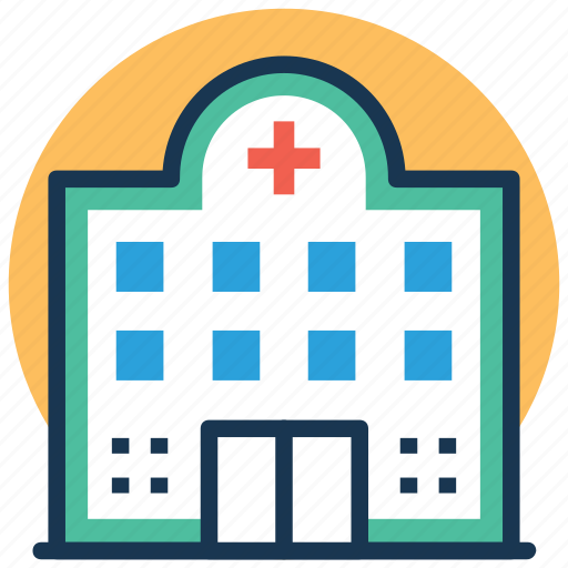 building, hospital, infirmary, medical center, sanatorium icon