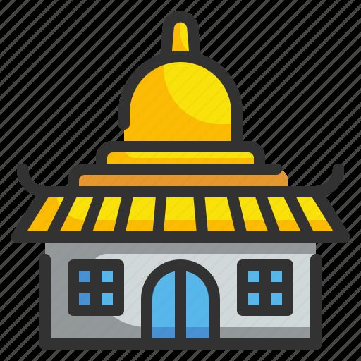 architecture, buildings, monuments, religious, temple icon