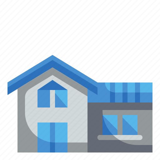 buildings, estate, house, property, real icon