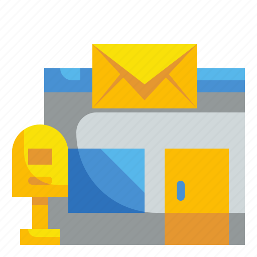 building, mail, office, post, shipping icon