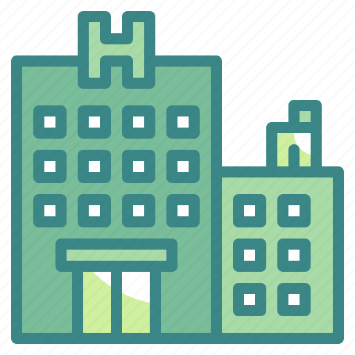 buildings, hotel, resort, travel, vacations icon