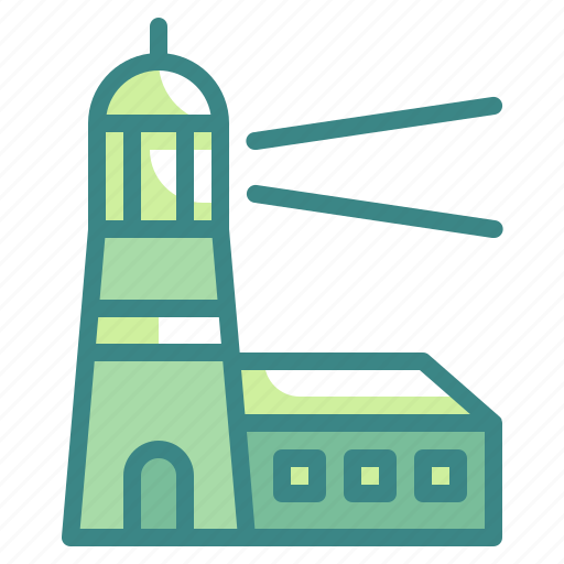 guide, lighthouse, navigation, signaling, tower icon