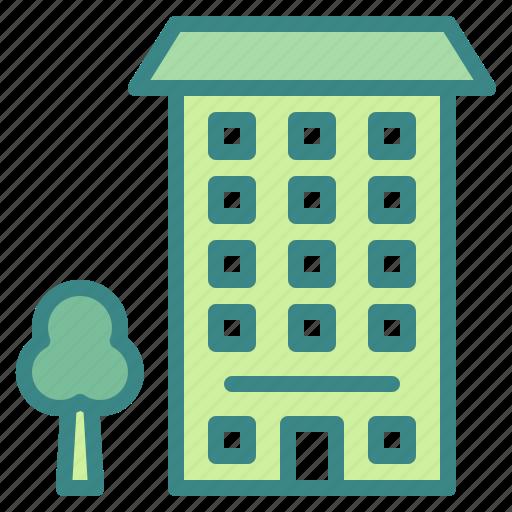 apartment, block, buildings, condominium, residential icon