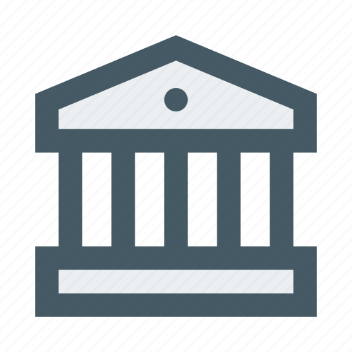 bank, building, construction, estate, finance, house, real icon
