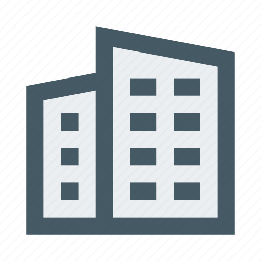 Apartment, building, city, house, property, real, town icon - Download on Iconfinder