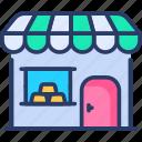 broker, facade, market, pawn, shop, store, super icon