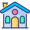 apartment, building, cottage, home, house, sweet, town