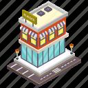 restaurant, burger shop, cafe, shop building, restaurant building icon