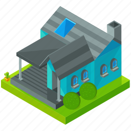 architecture, building, estate, home, house, porch icon