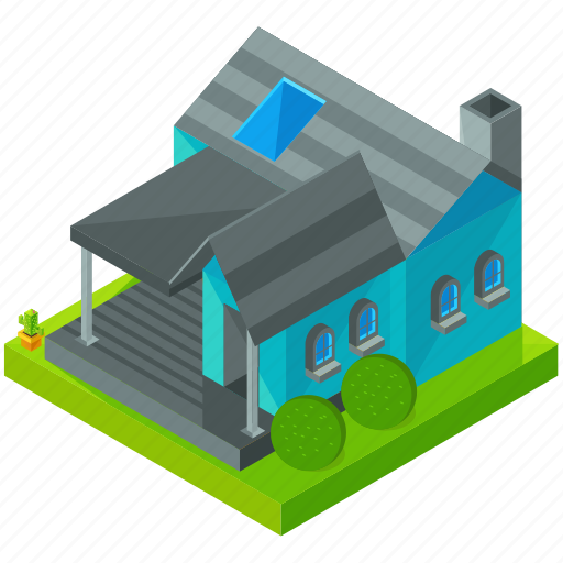 architecture, building, estate, home, house, porch icon