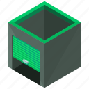 building, garage, storage, unit, warehouse icon