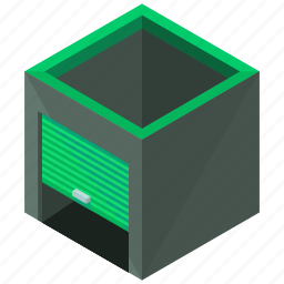 building, garage, storage, unit, warehouse icon