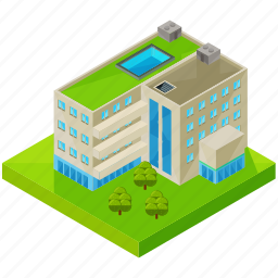architecture, building, business, estate, hotel, pool icon